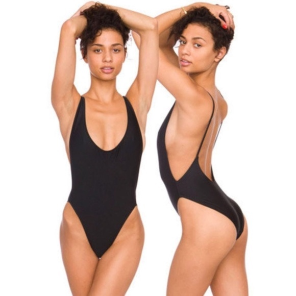 748b42023b231 American Apparel Other - AMERICAN APPAREL Black Tricot One-Piece Swimsuit S